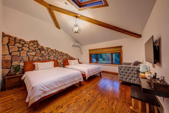 景观双床房抱星