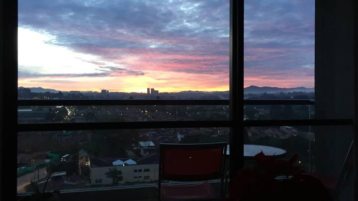 Confortable nuevo  lindo amanecer vistapanorámica