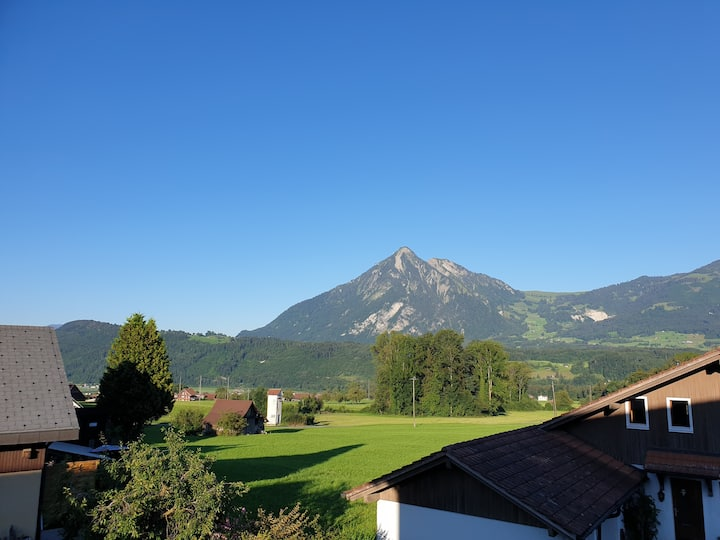 room with view on mount pilatus, near lucerne