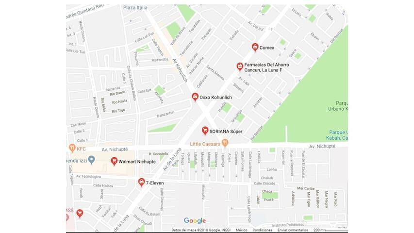 Informacion de supermercados en el area/ Supermarket nearby