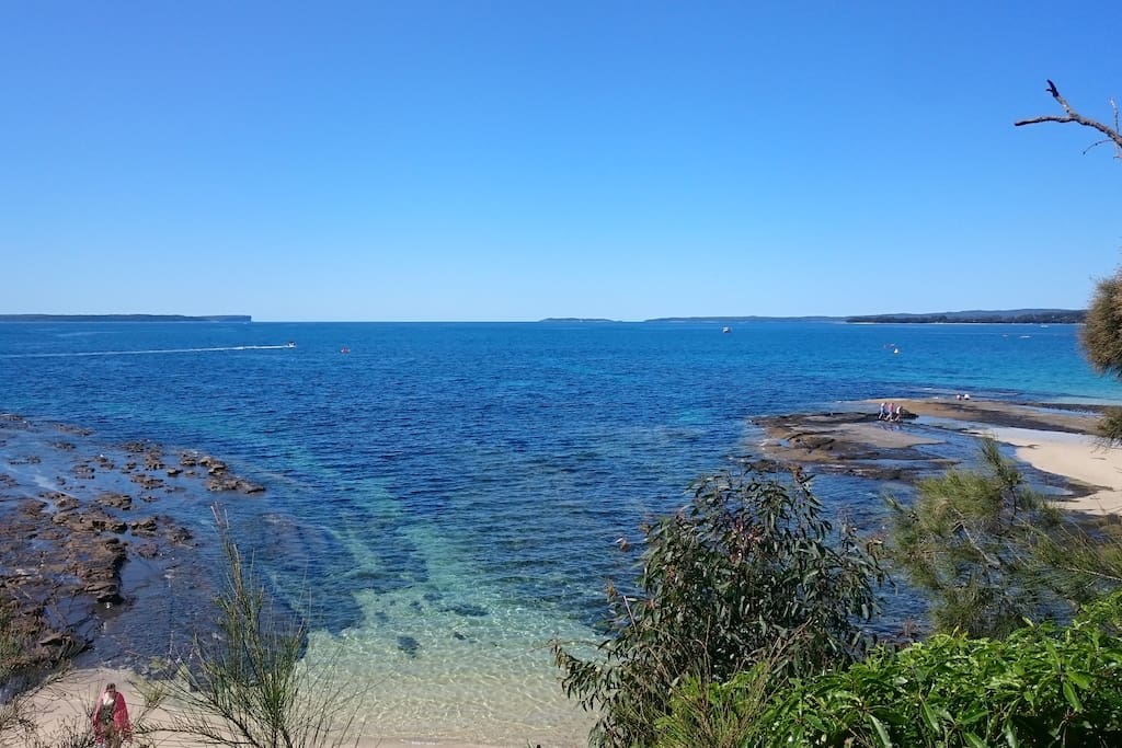 View from Huskisson Beach, Jervis Bay. ........A little piece of paradise.
