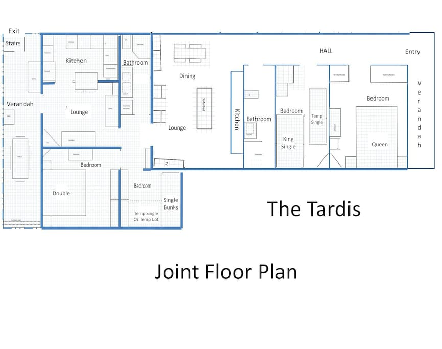 Floor plan of two joint apartments