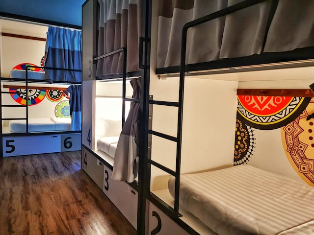 8-Bed Mixed Capsule with Shared Bathroom @ TOOJOU