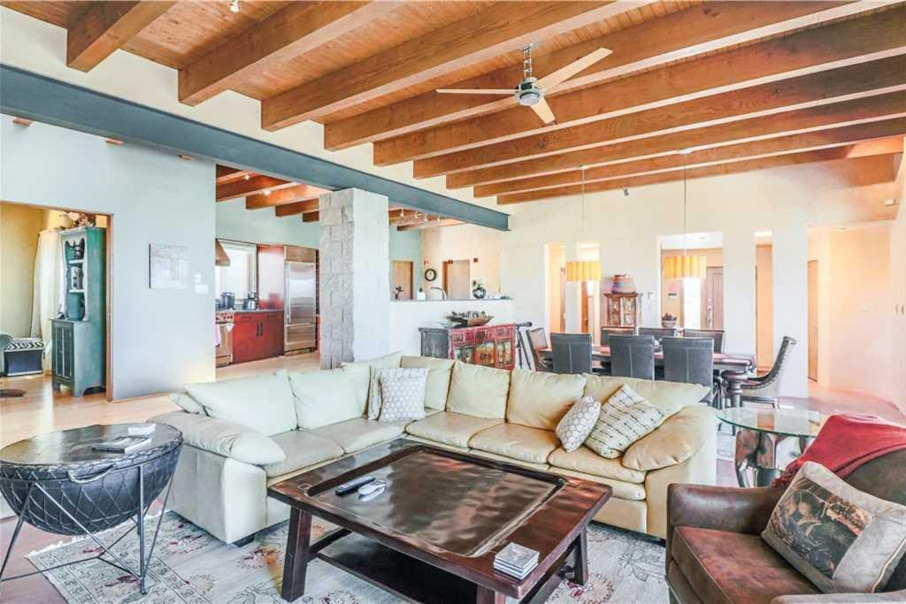 Enjoy comfortable, clean sofas with enough space for everyone to relax after a long day in the New Mexico sun.