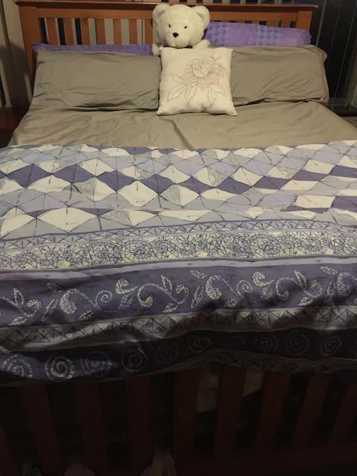 You got a queen bed!!!