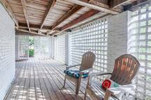 Wonderful covered outdoor seating area