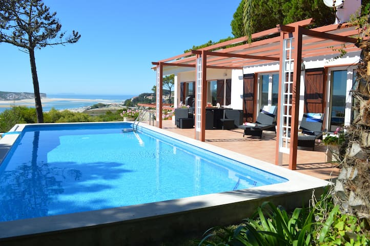 Family villa private pool stunning Atlantic views - Foz do Arelho - Rumah