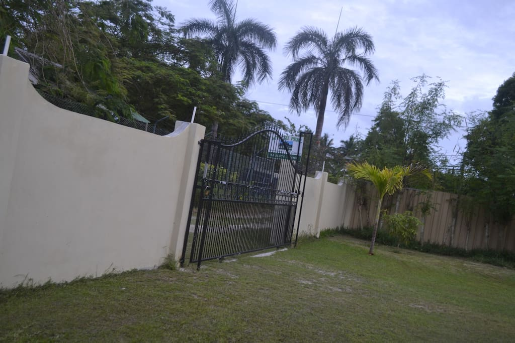 Private gates for security.