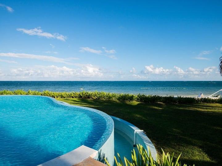 Villa 5 Beachfront Deluxe Pto Morelos Riviera Maya