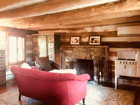 Rustic Fireside Cabin