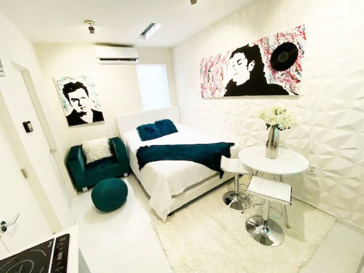 Luxury Apartment Studio Downtown Queen Bed Modern