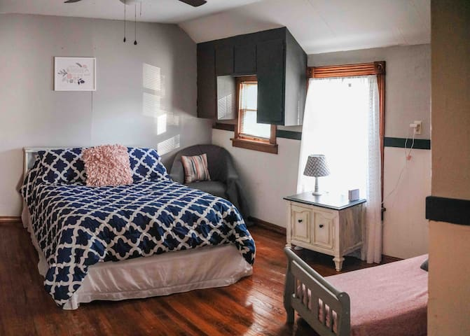 Upstairs full bedroom toddler bed