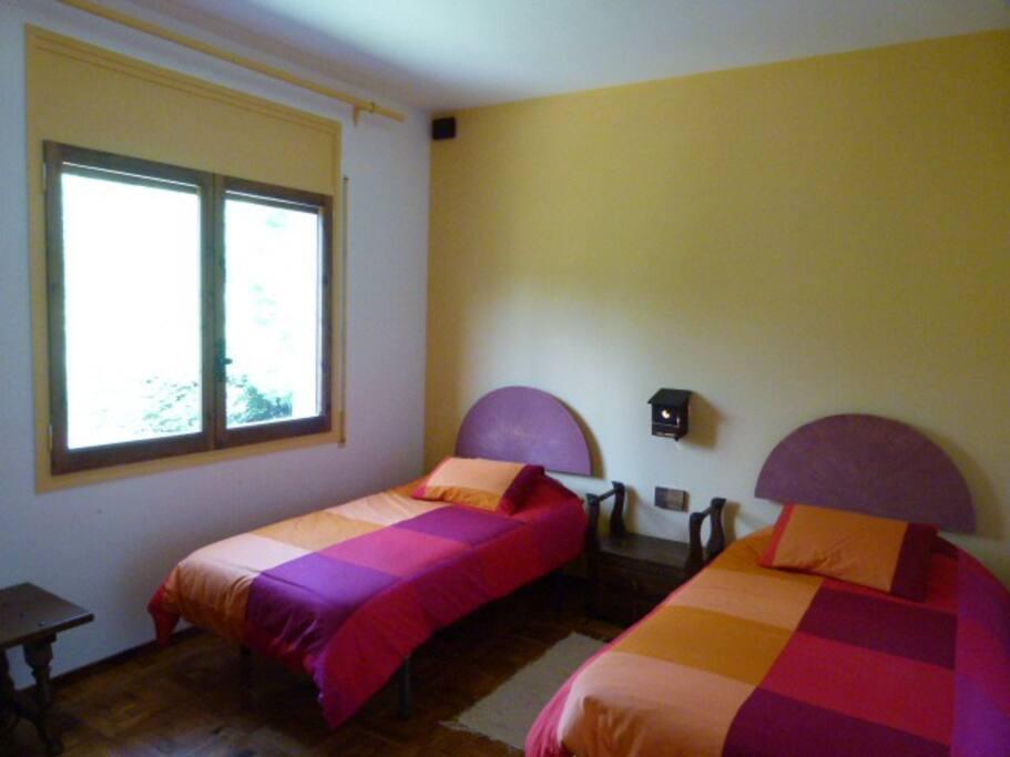 Habitación doble, con camas individuales