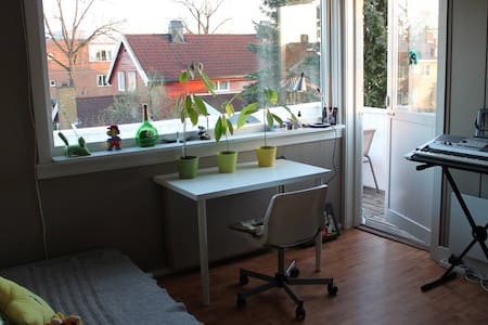Private room with balcony in big & cozy apartment - Oslo