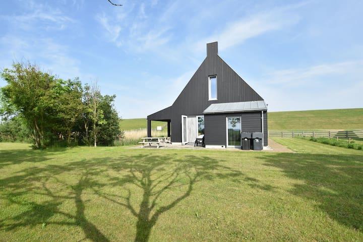 Classy Villa in Tzummarum with Terrace, Garden, Barbecue