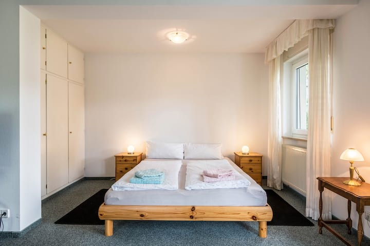 """Cozy Holiday Apartment """"Ferienwohnung Ruth"""" with Terrace & WiFi; Street Parking Available"""