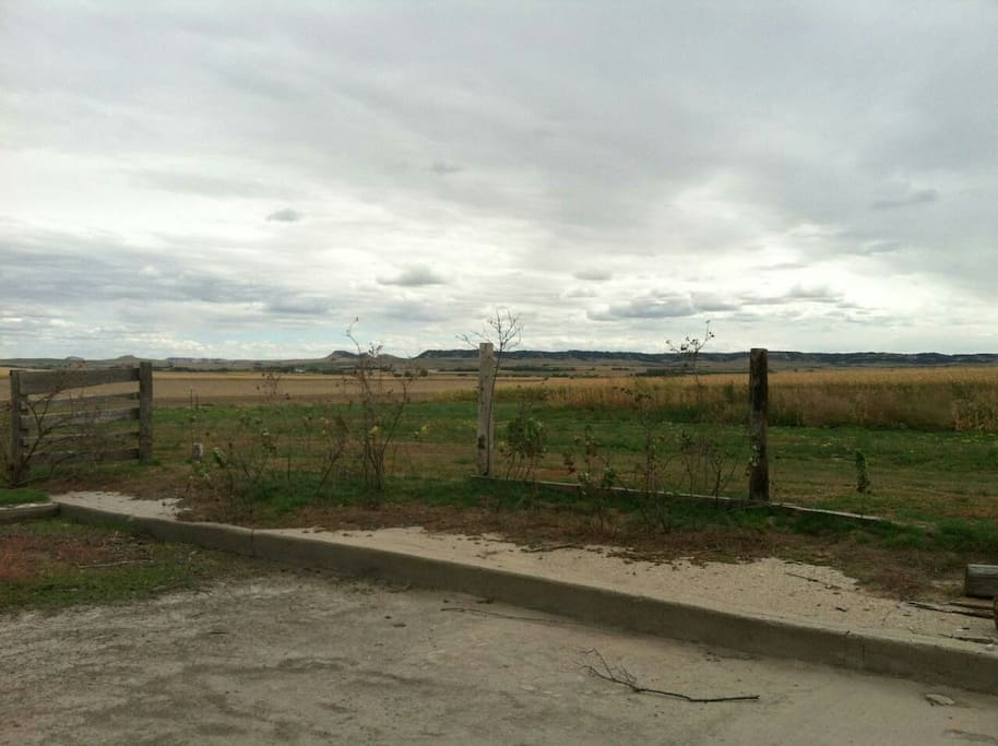 View out back of farm ground