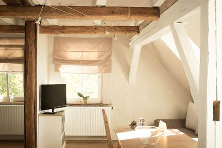 Offenes Apartment mit Seeblick