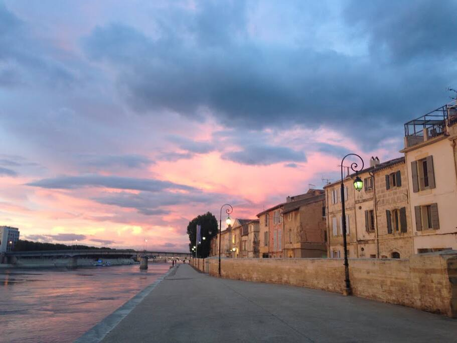 Au bord du Rhône...