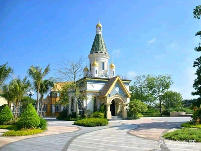 美式乡村阳江海陵岛十里银滩海洋风情三房两厅套房(距海滩350米)