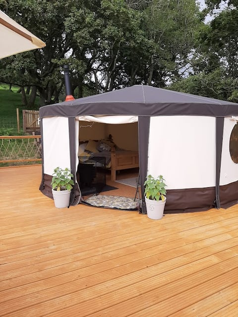 Cae Mawr Yurt Glamping in the Heart of Mid Wales