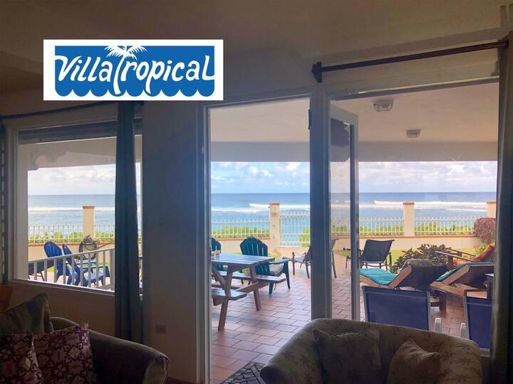 """Villa Tropical's Oceanfront 3Bdrm""""F2"""" @ShacksBeach"""