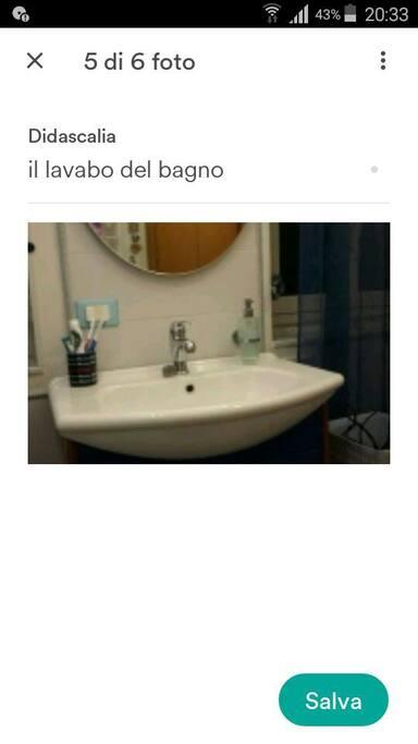 lavabo bagno uso esclusivo camera