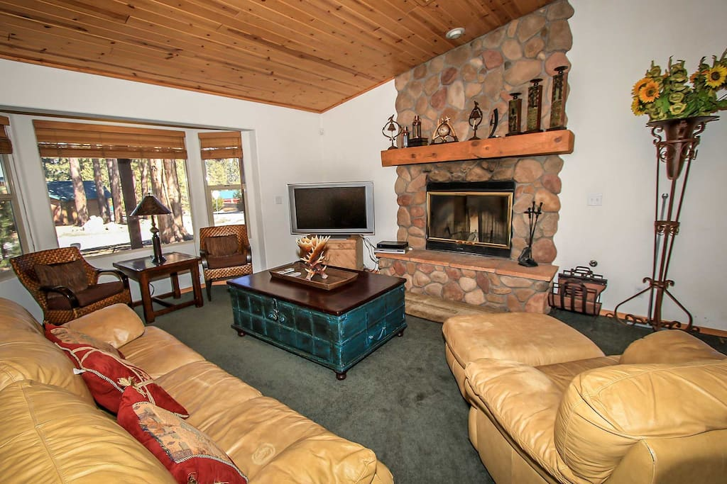 Gas Fireplace, TV/DVD Player Available