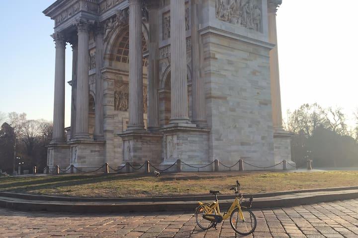 Arco della Pace Milano cosy and quiet room