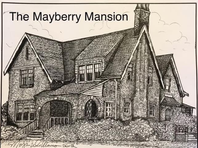 Come stay at the historical Mayberry Mansion in Claremore, Oklahoma! Close to a cute downtown with antique shops and renown quaint eateries that even Garth Brooks would frequent. Close to downtown Tulsa and the Hardrock Casino! Walk over to the Belvedere Mansion for a murder mystery dinner or tea with mum at The Pink House restaurant. Before you get there, play a game of tennis at the outdoor courts. Come eat and shop on food truck Thursday, enjoy drinks on Mainstreet Tavern's patio, or do yoga in the park gazebo. But I think Claremore's best kept secret is Dirty Dozen's alcohol infused donuts! The apple fritter with apple crown is my favorite!
