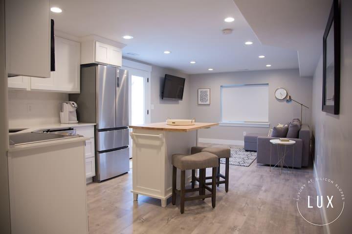 A spacious, yet cozy, contemporary design.