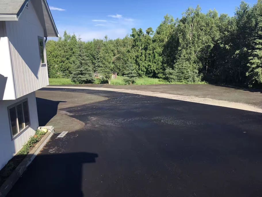 New driveway and private parking space for guests
