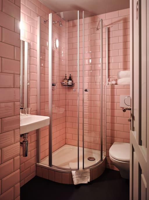 private bathroom across the corridor