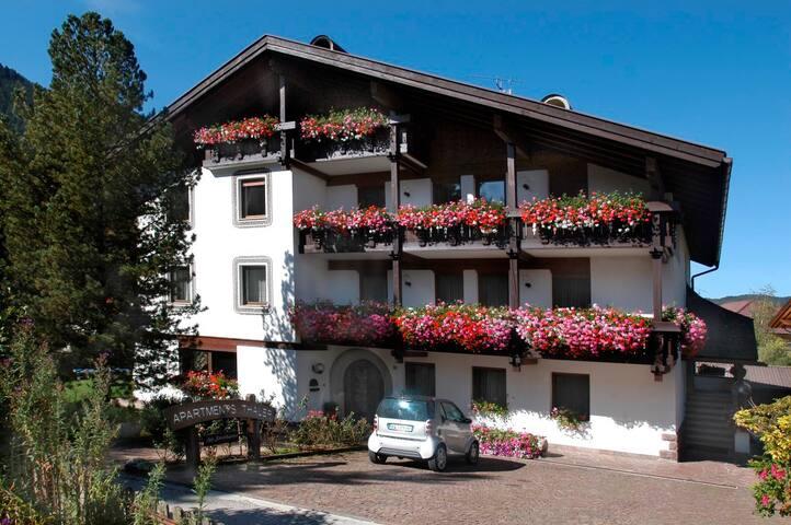Gelbe Wohnung im Herzen der Dolomiten