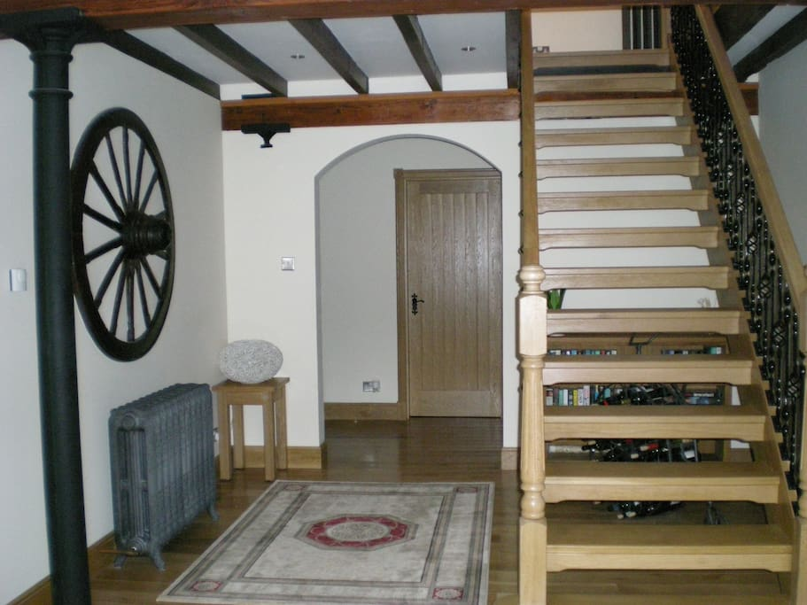 Our Entrance showing some original features of the Mill