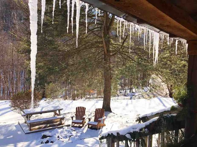 A winters view form the porch!