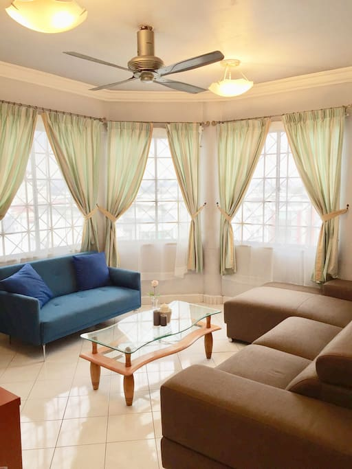Kelana Jaya Unit Living Room With Bright Natural Light