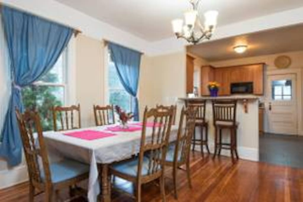 Ample space in lovely dining area