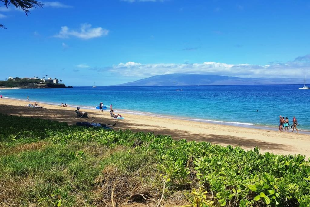 KA'ANAPALI BEACH IS RIGHT OUTSIDE OF YOUR BEACHFRONT CONDO!
