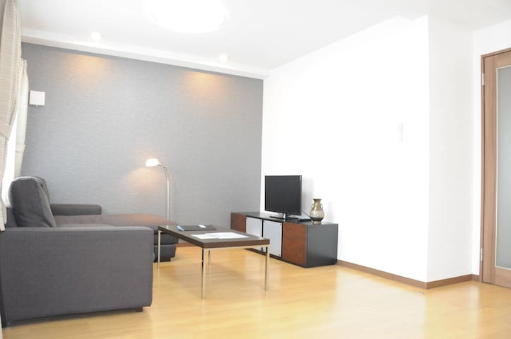 Free Wifi, New 105㎡ 5min walk to Station, out 12pm - Asahikawa-shi - Apartmen