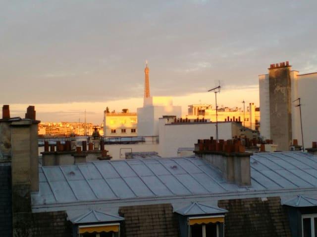 Charmant studio vue tour Eiffel - Paris - Daire