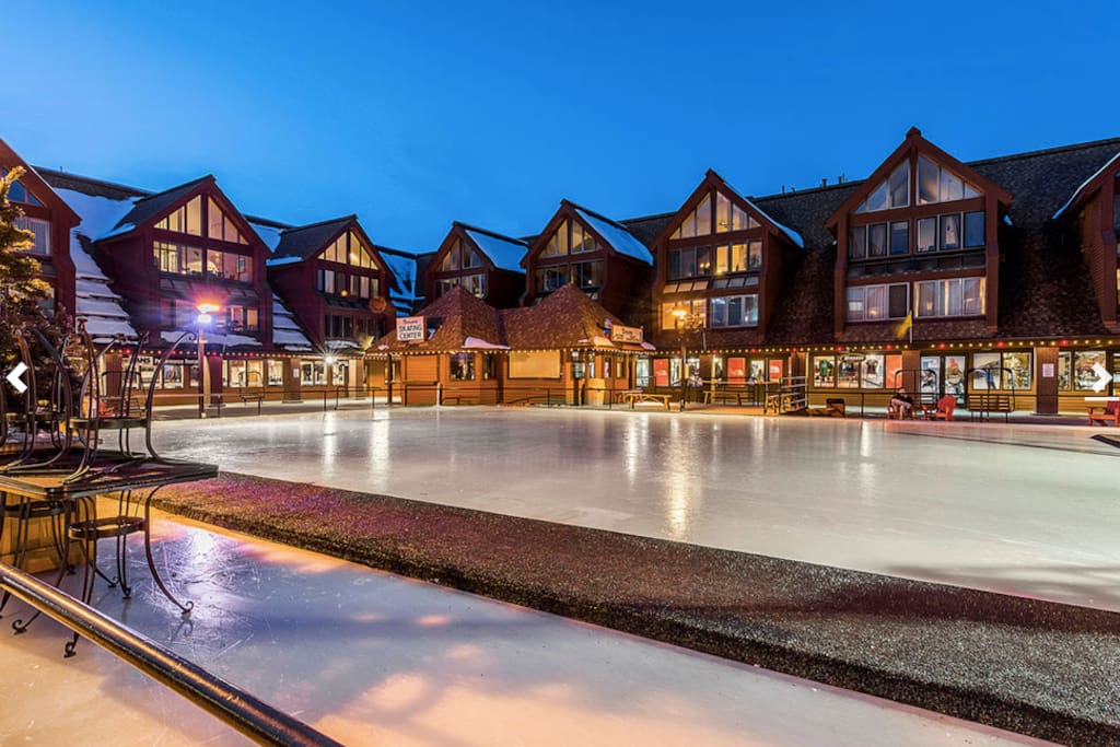 Ice Skating rink right outside your door (winter time only)