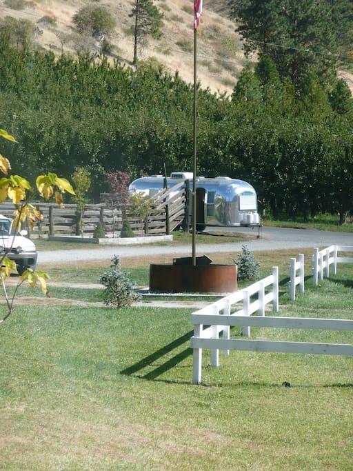 The trailer at Hampton Lodge wedding venue