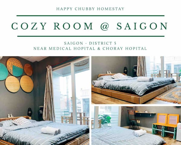 Airy Room #3mins to Medical U/ Cho Ray Hospital