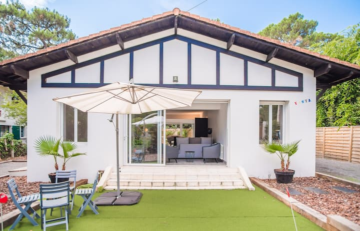 Beautiful spacious house in Pyla-sur-Mer for 10 people 200m from the beach