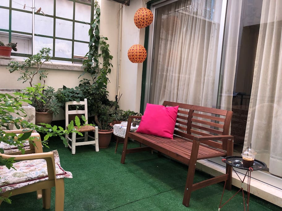 patio/ indoor garden Use by the ground floor