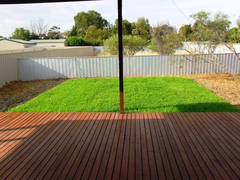 Rear yard from back pergola/deck