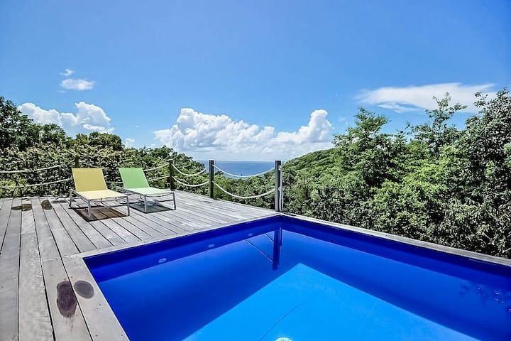 Villa privée 4 ch, vue mer piscine à Marie Galante