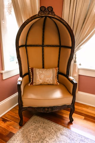 Relax in this unusual chair