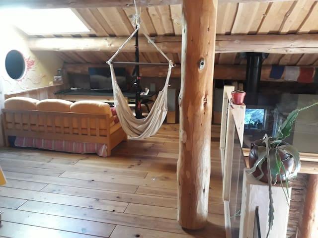 Chambre avec salon et sdb privée en mezzanine
